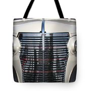 Leather And Chrome Tote Bag