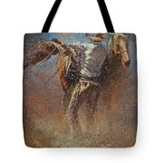 Leather And Sweat Tote Bag