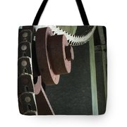 Leather Chain Tote Bag