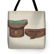 Leather Hat Box Tote Bag