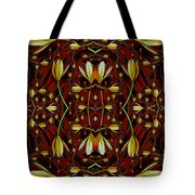 Leather In Floral Harmony And Peace Tote Bag