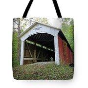 Leatherwood Station Covered Bridge Indiana Tote Bag