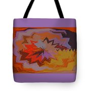 Leaves Abstract - Autumn Motif Tote Bag