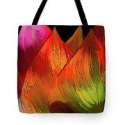 Leaves Aflame Tote Bag