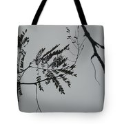 Leaves Against A Grey Sky Tote Bag