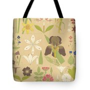 Leaves And Flowers From Nature Tote Bag