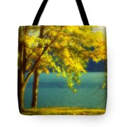 Leaves And Light Tote Bag
