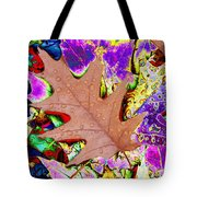 Leaves And Rain 4 Tote Bag