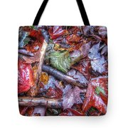 Fall Leaves From The Land North Of Nowhere Tote Bag