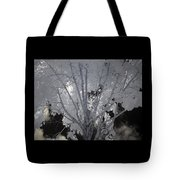Leaves Hiding The Sun Tote Bag