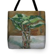 Leaves In A Tall Glass Tote Bag