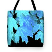 Leaves In Blue Tote Bag