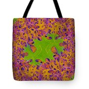 Leaves In Fractal 2 Tote Bag