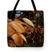 Leaves In Late Autumn Tote Bag