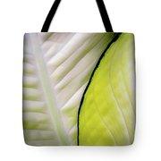 Leaves In White Tote Bag