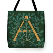 Leaves Letter A Tote Bag