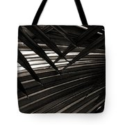 Leaves Of Palm Black And White Tote Bag