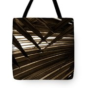 Leaves Of Palm Sepia Tote Bag