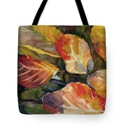 Leaves On A Pond Tote Bag