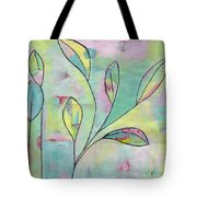 Leaves On Abstract Background Tote Bag