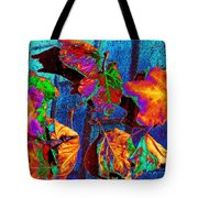 Leaves On Bricks Tote Bag