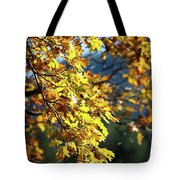 Leaves On Fire Tote Bag