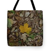 Leaves On The Rocks Tote Bag