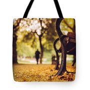 Leaves Strewed The Path Tote Bag