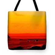 Leaving Basseterre Tote Bag