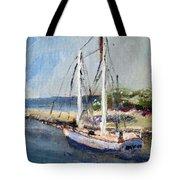Leaving Sesuit Harbor Tote Bag