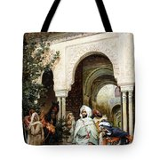 Leaving The Alhambra Tote Bag