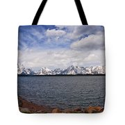 Leaving The Grand Tetons Tote Bag