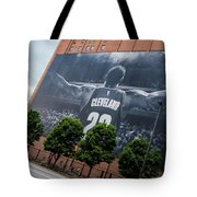Lebron James Banner Tote Bag