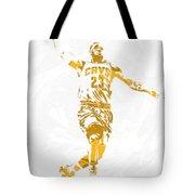 Lebron James Cleveland Cavaliers Pixel Art 12 Tote Bag