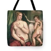 Leda And The Swan Tote Bag by Titian