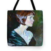 Ledy In Green Tote Bag