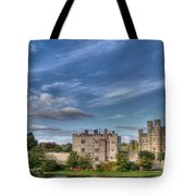 Leeds Castle And Moat Rear View Tote Bag