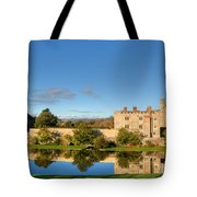 Leeds Castle And Moat Reflections Tote Bag