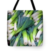 Leeks At The Farmer's Market Tote Bag