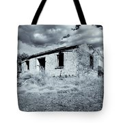 Left In Ruin Tote Bag by Mike  Dawson