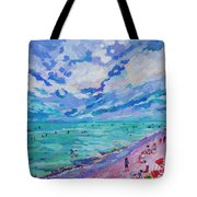 Left Panel Of Triptych Busy Relaxing Tote Bag