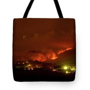 Lefthand Canyon Wildfire Boulder County Colorado 3-11-2011 Tote Bag