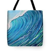Lefthand Wall Of Water Tote Bag