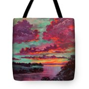 Legend Of A Sunset Tote Bag