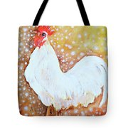 Leghorn Rooster Do The Funky Chicken Tote Bag