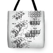 Lego Toy Building Brick Patent Tote Bag