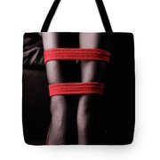 Legs In Red Ropes Tote Bag