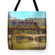 Lehigh River - Easton Pa Tote Bag