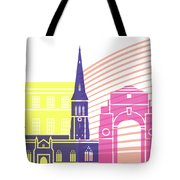 Leicester Skyline Pop Tote Bag