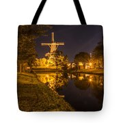 Leiden Windmill By Night Tote Bag